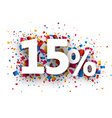 15 sale sign vector image