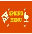 Hand-sketched elements Spring menu Veggie vector image
