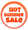 icons hot summer sale vector image