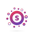letter s in circle abstract logo design vector image