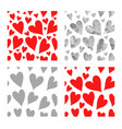 Red and gray hearts seamless pattern se vector image