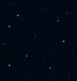 Seamless Realistic Night Sky vector image