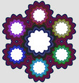 Six part circular infographic element design vector image