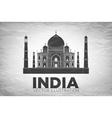 Taj Mahal an ancient Palace vector image