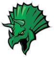 triceratops head mascot vector image