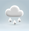 Glossy white plastic weather icon vector