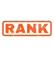 Rank Rubber Stamp vector image