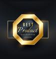 best product guarantee golden seal label design vector image