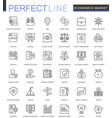 economics market thin line web icons set outline vector image