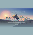 snowboarding themed web banner vector image