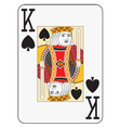 Jumbo index king of spades vector image vector image