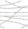Barbed wire Seamless background barbed wire vector image
