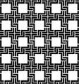 Black and white checkered geometric seamless vector image vector image