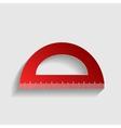 Ruler sign vector image
