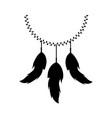 boho style decorative feathers vector image