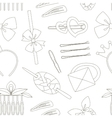 Hair Accessories Object Set pattern vector image