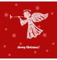 Holiday Christmas card vector image