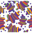 Leaves seamless pattern whimsical vector image