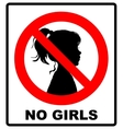 no girls allowed with female symbol - vector image