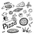 Pizza pasta vector image