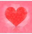 polygonal heart vector image