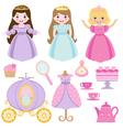 Princess party vector image