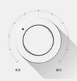 white technology volume knob vector image