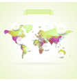 World map with elements of infographics vector image