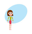 woman character creation set with head body arm vector image