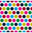 retro polka dots seamless pattern vector image