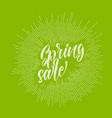 modern hipster spring sale lettering vector image vector image