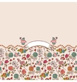 Seamless background with roses and birds vector image vector image