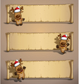 Christmas Elks Papyrus vector image vector image