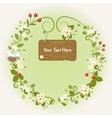Spring Flowers Bird Vintage Love Romantic Wreath vector image