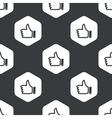 Black hexagon like pattern vector image