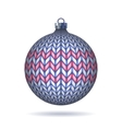 Light blue Knitted Christmas Ball vector image