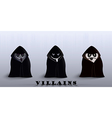 villains in capes vector image