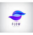 abstract sphere flow waves logo vector image
