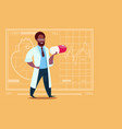 african american doctor holding pill medical vector image