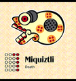 Aztec symbol Miquiztli vector image