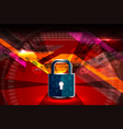 cyber security padlock vector image