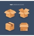 set Flat carton box Delivery and vector image