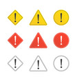 set of caution icons vector image