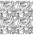 sketchy doodles decorative outline ornamental vector image