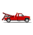 the tow truck vector image