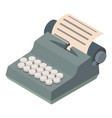 typewriter icon isometric 3d style vector image