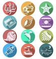 Underwater flat color icons vector image