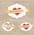 Valentines day labels vector image
