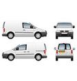 Volkswagen caddy delivery van vector image