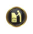 atm icon button gold2 copy vector image